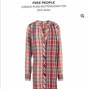 Free People Lorialei plaid button down top - dress